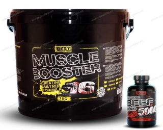 Muscle Booster 16 BEST NUTRITION 7kg + BEEF Amino Zadarmo