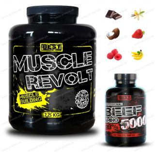 Muscle Revolt (2250g) + BEEF Amino (250tbl) Zadarmo - Best Nutrition