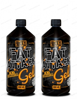 Fat Attack GEL 500 ml BEST NUTRITION 1+1 Zadarmo