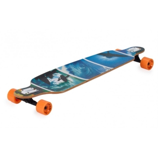 "Longboard Spartan DROP SHAPE ""Surfer Blue"""