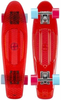 Pennyboard Nijdam Red Transparent